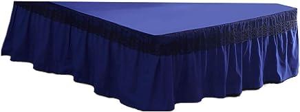 FLAMEER ベッドカバー ダブル 伸縮バンド フリル 付き レース ベッドスカート しわ防止 ポリエステル 快適 通気性 - 200×220cm