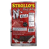 Strollo's Beef Jerky Mild Original Flavor 1 Pack - Low Sodium, Low Sugar, Low Carb - Made with All Natural USA Beef, USDA Certified