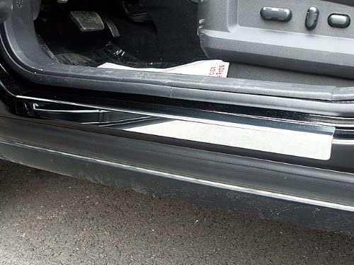 707Motoring Stainless Alternative dealer Large-scale sale Polished Chrome Door Sill Compat Trim 4PC