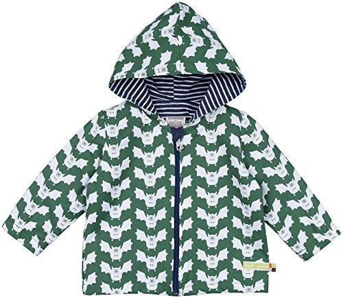 loud + proud loud + proud Unisex Baby Regenmantel Wasserabweisende Jacke, Grün (Pine Pin), 80 (Herstellergröße: 74/80)