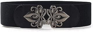 Women Elastic Wide Waist Belt, Vintage Royal Buckle Stretch Dress Adornment Belt For Women Waistband