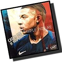 キリアン・ムバッペ (エムバペ) フランス代表 海外サッカーグラフィックアートパネル 木製 壁掛け インテリア ポスター (26*26cmアートパネルのみ)