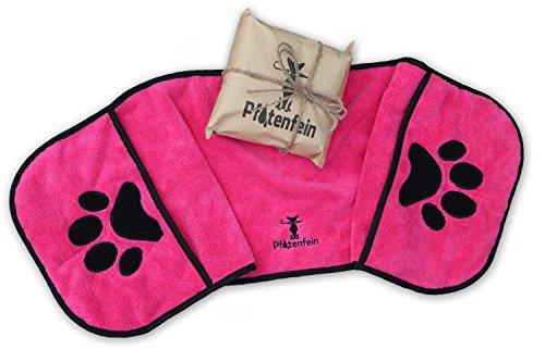 Hundehandtuch extra saugfähig - Hunde Handtuch Welpen - Hunde Zubehör - große kleine Hunde Badetuch