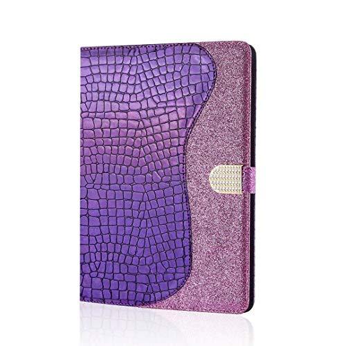 Funda para Samsung Galaxy Tab S5e 10.5 pulgadas 2019 T720/ T725, con purpurina brillante Bling Folio funda para tablet delgada y ligera, a prueba de golpes, funda protectora con soporte para tarjetas, Morado, Samsung Galaxy Tab S5e 10.5 Inch 2019 T720/ T725