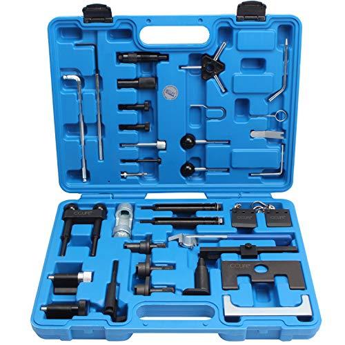 CCLIFE Motor Einstellwerkzeug TDI Zahnriemen Werkzeug Arretierwerkzeug Steuerriemen Nockenwellen Kompatibel mit VAG Audi VW 1,2 1,9 2,0 2,5 3,3 ltr