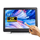 2K Touchscreen Portable Monitor, ELECROW 10.1 Inch IPS Touchscreen Display 2560x1600 Resolution HDMI/DisplayPort Input Compatible with Windows PC Game Console Raspberry Pi
