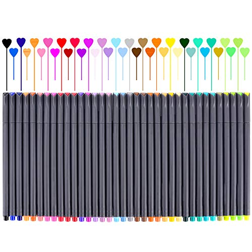 Fineliner Color Pen Set, Fine Line Point Drawing Marker Pens for Writing Journaling Planner Coloring Book Sketching Taking Note Calendar Art Projects Teacher Office School Supplies (36 Colors)