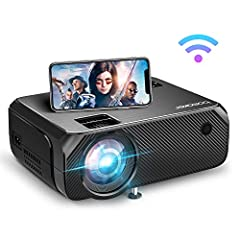 ❥(Input code: NPM7FIR7 to get a FREE Adjustable Tripod.)【True HD WiFi Projector On the Go】No need to buy cables to connect devices to larger screens. Wireless screen mirroring movies, videos, apps, games, photos on the mobile devices to the big scree...