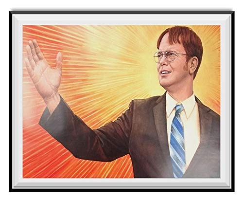 Jackila Dwight Schrute Supreme Leader Wall Art Print Painting Home Decor Gifts for Lovers Poster
