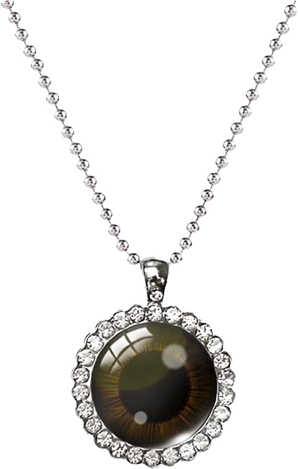Sale special price Eyes Pendant Necklace Color Eye National uniform free shipping Photo Jewel Art Crystal Pendants