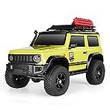 RGT RC Crawler 1:10 4wd Crawler Off Road Rock Cruiser RC-4 136100V3 4x4 Waterproof Hobby RC Car Toy (Yellow)
