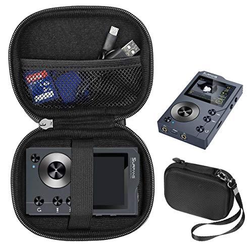 WGear Original Design Music Player Case for AGPTEK H01, H3, AGPTEK IMP HiFi 16GB MP3, Pyle Portable High Resolution Digital Audio Player, HiFi Walker, Cayin N3 DAP (Compact Size, Black)