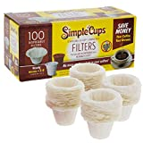 Disposable Filters for Use in Keurig Brewers - Simple Cups - 100 Replacement Filters - Use Your Own...