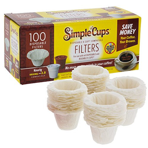 Disposable Filters for Use in Keurig Brewers- 300 Replacement Single Serve Paper Filters for Regular and Reusable K Cups- Use Your Own Coffee in K-cups