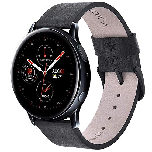 V-MORO Gear Sport Armband,Galaxy Watch 42mm Armband, Galaxy Watch Active 1&2 40mm 44mm,20mm Soft Leather Echtleder Ersatz SmartWatch Bracelet Uhrenarmband Kompatibel for Gear S2 Classic