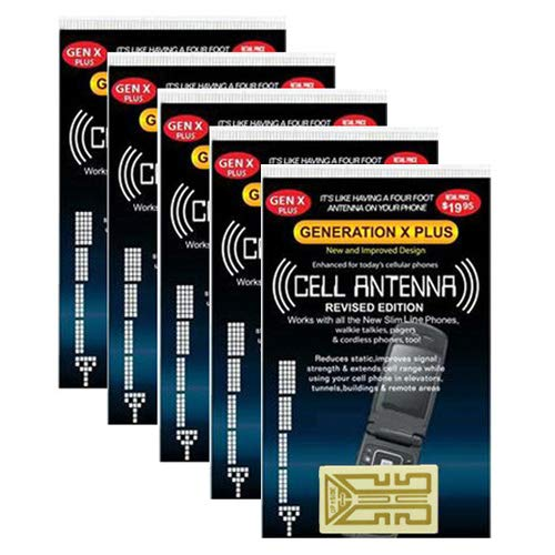 Harper Grove Cell Phone Internal Antenna Signal Reception Booster, 5 Pack, for Apple iPhone SE 4 4S 5 5C 5S 6 6S 7 7S 8 8+ X XS XR XS MAX