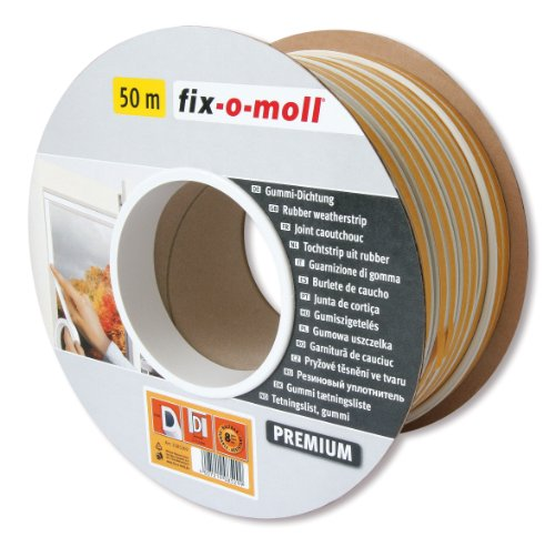 fix-o-moll D-Profildichtung Bobin 50 m 6 x 9 mm selbstklebend weiß, 3585269