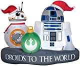 """Star Wars Gemmy Christmas Inflatable 5' R2-D2 and BB-8"""" Droid to The World Scene 