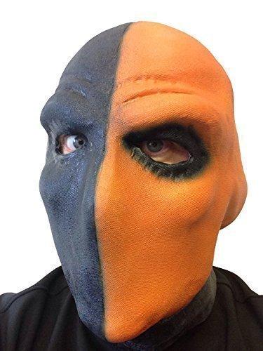 Rubber Johnnies TM Deathstroke Kostüm Maske Deadpool Film Taskmaster Arrow TV Serie Slade Wilson Bösewicht Comic Kostümparty - Deathstroke Orange
