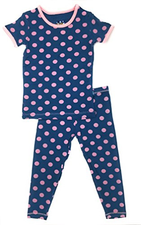 KicKee Pants Print Short Sleeve Pajama Set in Desert Rose Indian Train zbvdqr4604143