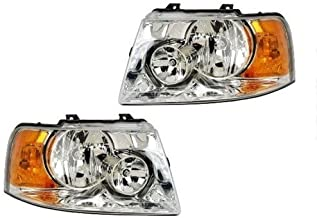 Fleetwood Bounder 2006-2008 Front Pair (Left & Right) Replacement Headlights with Bulbs RV Motorhome