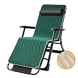 LAXF- Sillas Summer Lazy Plegable Silla Sun Lounger Lounge Chair Lounge Chair con Almohadas Originales, Plegable portátil, 178x66x40CM