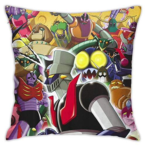 Ahdyr Mazinger Z Fundas de Almohada Funda de Almohada Decorativa Suave para sofá Sofá Cama Silla 18 x 18 in