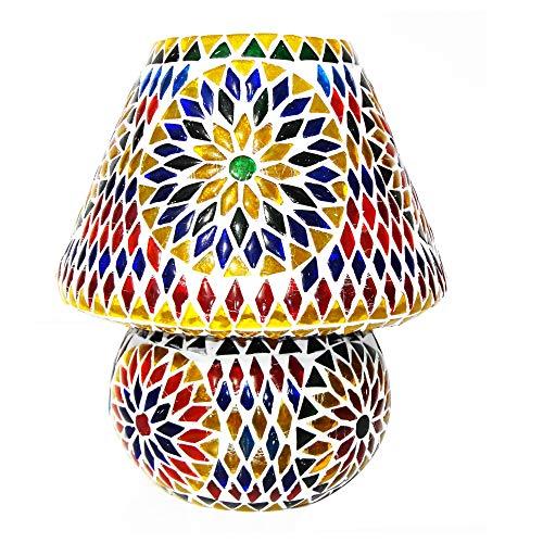 BY SIGRIS Signes Grimalt Lámpara Árabe de Mesa | Lampara Marroqui, Multicolor - Modelo 1