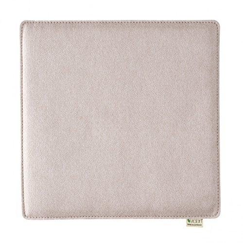 Metz Textil & Design Violan Sitzkissen quadratisch - 40 x 40 cm, h 1,6 cm - Pebble