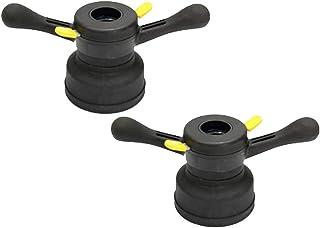 Kesoto 2 conjuntos de porca de asa de cubo de liberação rápida de 40 mm para ferramenta de balanceador de roda, passo de 3 mm
