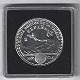 Matidia España Moneda Original de 2000 pesetas en Plata, Última emisión de la Peseta. en cápsula Quadrum.