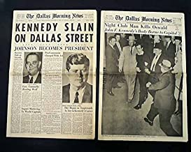 Best (2) JFK John F. Kennedy & Oswald ASSASSINATION 1963 Dallas Texas Newspapers Here is a terrific pair of issues on the assassination of John F.