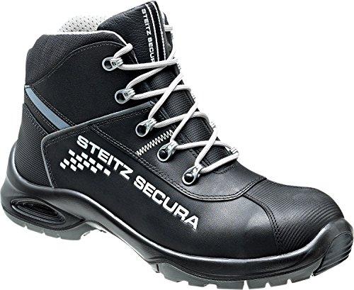 Steitz Secura VX 7750 Perbunan Sicherheits-Stiefel S3 SRC ESD EN ISO 20345 schwarz grau | 042