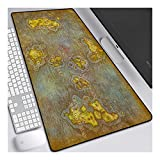 ITBT World of Warcraft Tappetino per XXL Mouse da Gioco - Gaming Mousepad Extra Grande 900 x 400mm - Pad 3mm con Base in Gomma Antiscivolo - Spessore 3mm Anime Tappetino Mouse, B