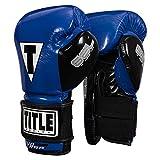 Title Boxing Gel Glory Super Bag Gloves 2.0, Blue/Black, 12 oz
