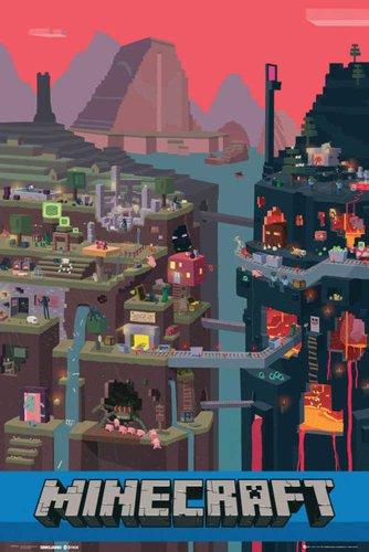 empireposter Minecraft - World Open World Videospiel PC Poster Plakat Druck - Grösse 61x91,5 cm