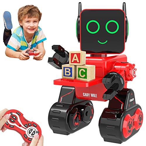 HBUDS Robot di Controllo Remoto RC, Giocattolo di Robotica di Controllo del Suono Touch Ricaricabile, Kit di Robot Educativi di Danza del Canto per Le Ragazze dei Ragazzi - Miglior Regalo