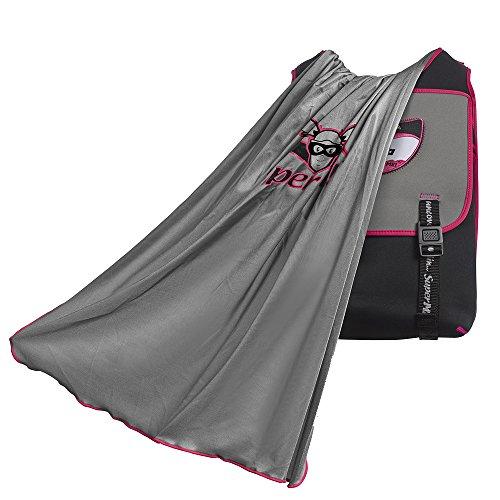 SuperME kids' Urbanista Cape Backpack Pink and Black, Cool Backpack for Girls, Best Back to School Bag for Girls