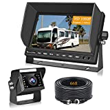 Backup Camera for RV Trucks, VECLESUS VMH 1080P Wired Backup Camera Kit, 7' Wide Screen with Night Vision Backup Camera for Truck, RV, Bus, Harvester, Pickup, Motorhome, Van Heavy Duty Vehicles