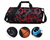 Lucky Gourd 33L Cylindrical Sports Bag Gym Luggage Holdall Shoulder Backpack Luggage Sports