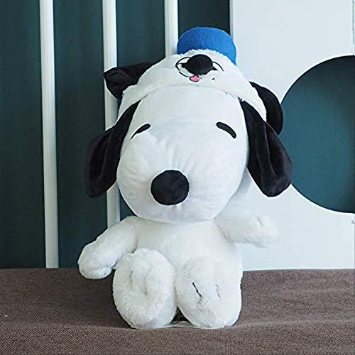 LDDZAU La muñeca Creativa de la Serie Snoopy de Dibujos Animados Lindo agarra la máquina de muñecas para darle a la niña un Juguete de Peluche de 30 cm de Franja roja B