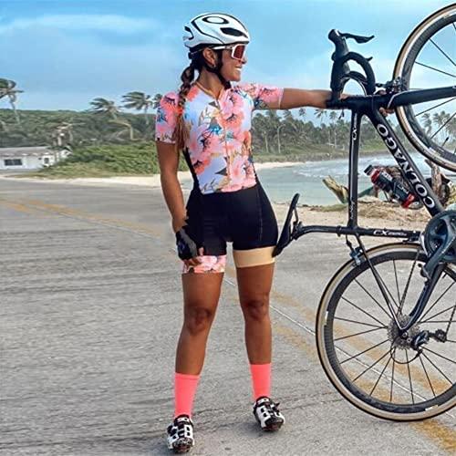 Triathlon da donna Abiti da ciclismo Jersey Tuta Girl Girl Jersey Abito casual a maniche corte a maniche corte JINSHAO (Color : 20-367(2), Size : Medium)