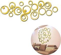 Yililay 1SET Verwijderbare Bubbles 3D Acryl Spiegel Muurstickers Ronde Muursticker Sticker voor Thuis Woonkamer Slaapkamer...