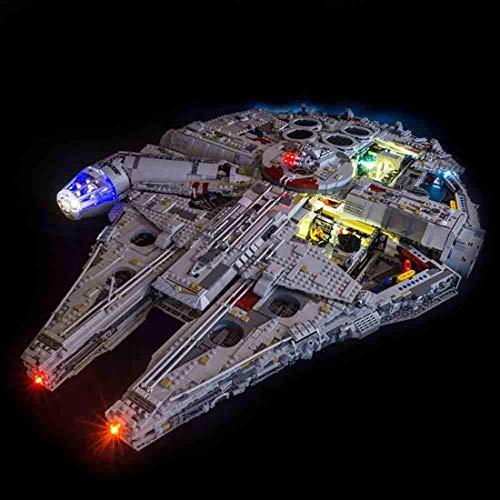 TETAKE Kit de iluminación LED para Lego 75192 – Juego de iluminación para Lego Millennium Falcon (no incluye modelo Lego)