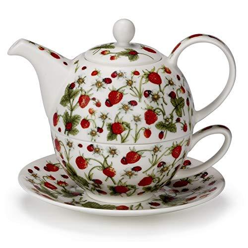 Dunoon Pretty Dovedale Aardbei Ladybird fijn bot China thee voor een theepot Cup schotel Set