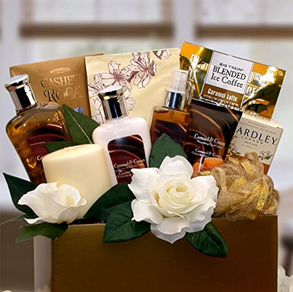 Caramel and Vanilla Spa for Her -Women's Birthday, Holiday, or Mother's Day Gift Basket