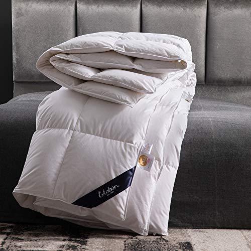Globon Goose Down Comforter King Size All Season Duvet Insert Ultra-Soft 100% Cotton, 45OZ,650 Fill Power, Medium Warmth Hypoallergenic with Corner Tabs, White.…