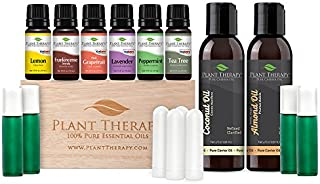 Plant Therapy Essential Oil Starter Set. 100% Pure, Undiluted, Therapeutic Grade.