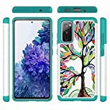 Samsung Galaxy S10e Case, Outdoor Shockproof 2 in 1 Dual Layer Full Protection Heavy Duty Hybrid Defender Silicone TPU Bumper Protective Cover for Samsung Galaxy S10e Phone Case Lucky Tree