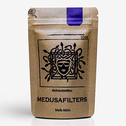 Medusafilters Premium Aktivkohlefilter Ø 6mm 50er Packung